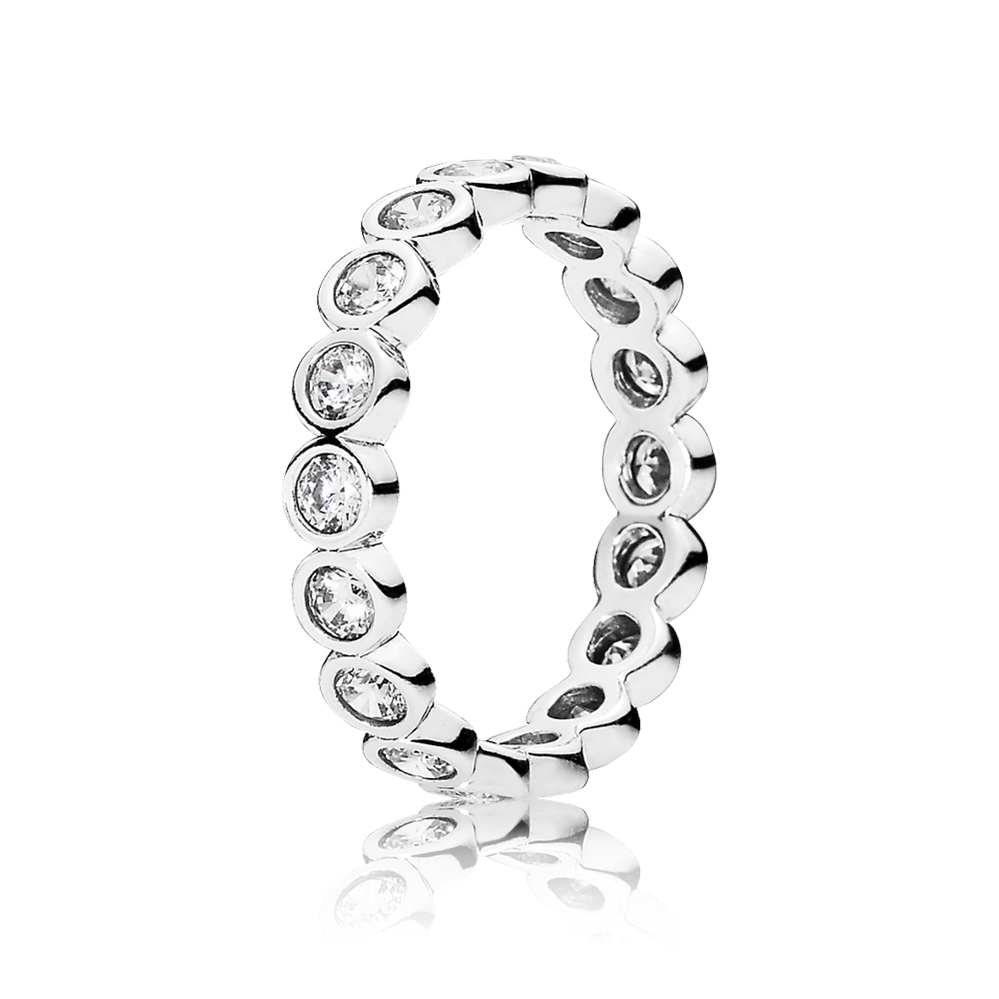 Pandora Alluring Brilliant Stackable Ring, Clear CZ 190942CZ