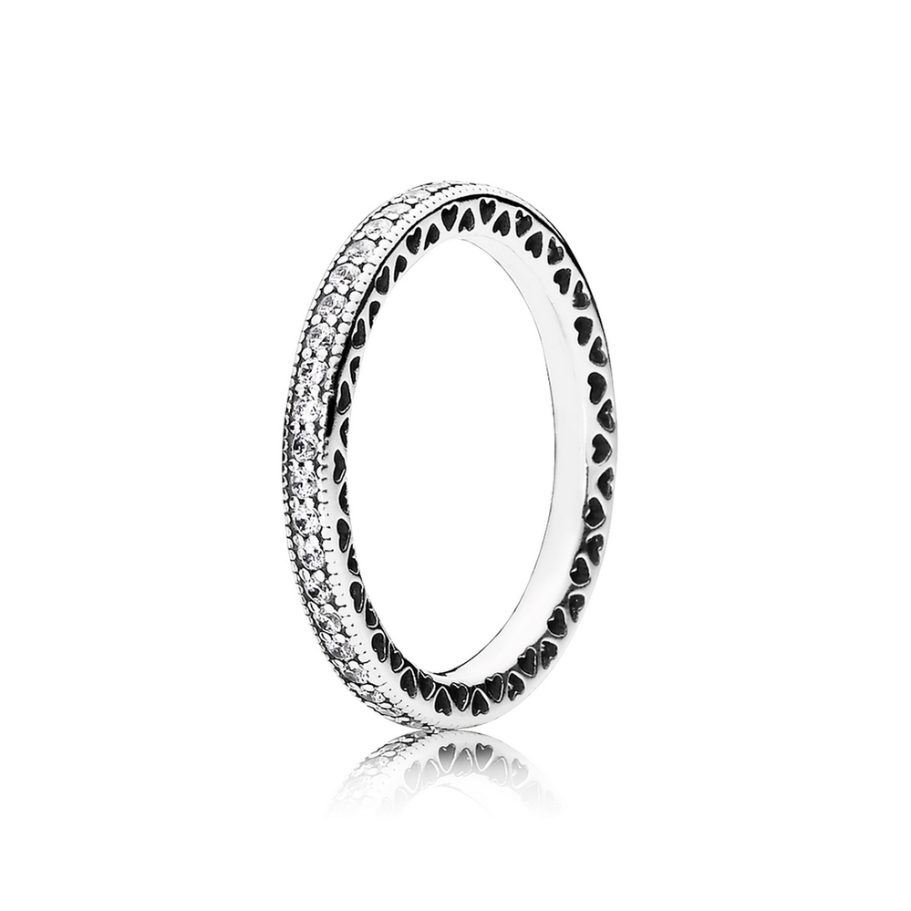Pandora Hearts of PANDORA Ring, Clear CZ 190963CZ