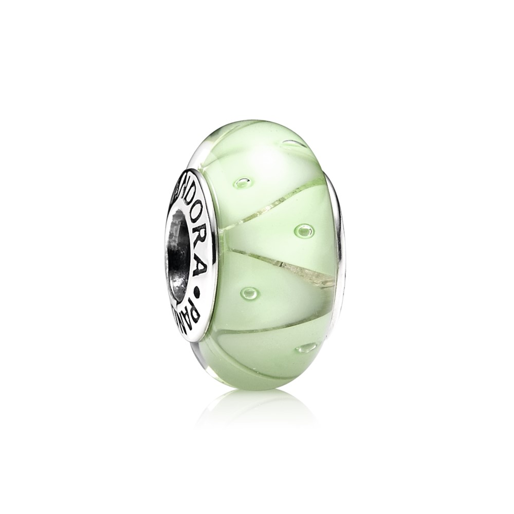 Green Looking Glass Murano Charm 790925