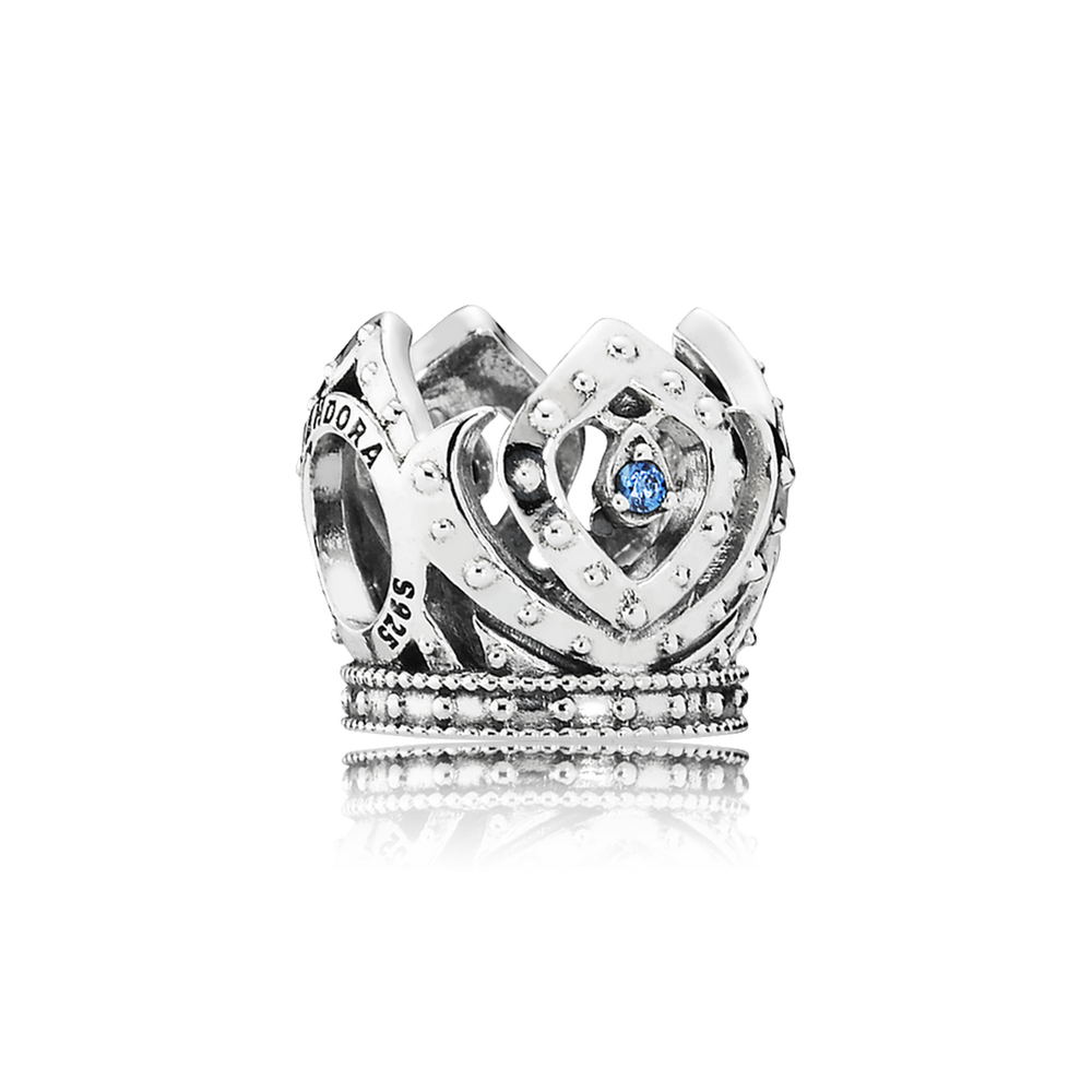 Disney, Elsa's Crown Charm, Blue CZ 791588CZB
