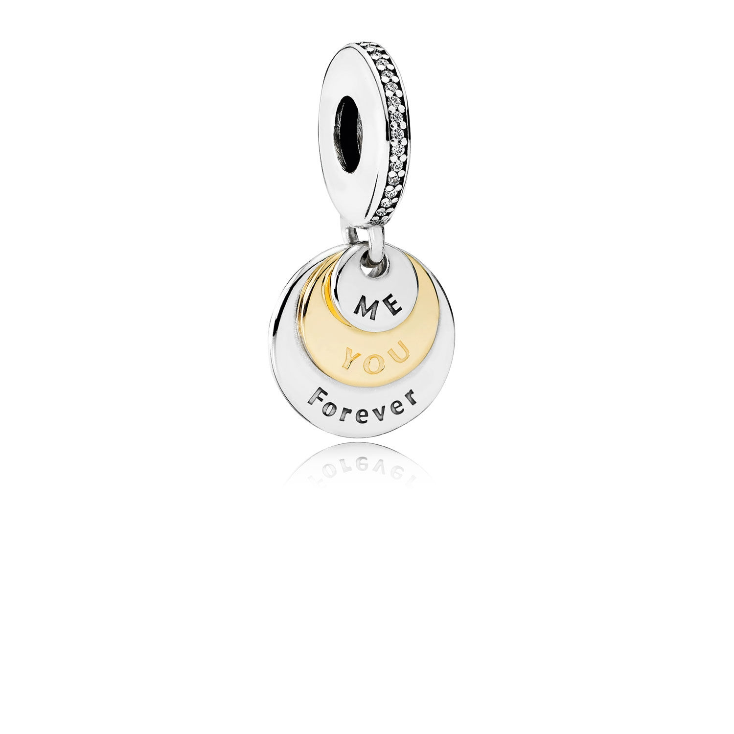 Pandora You & Me Forever Dangle Charm, Clear CZ 791979CZ