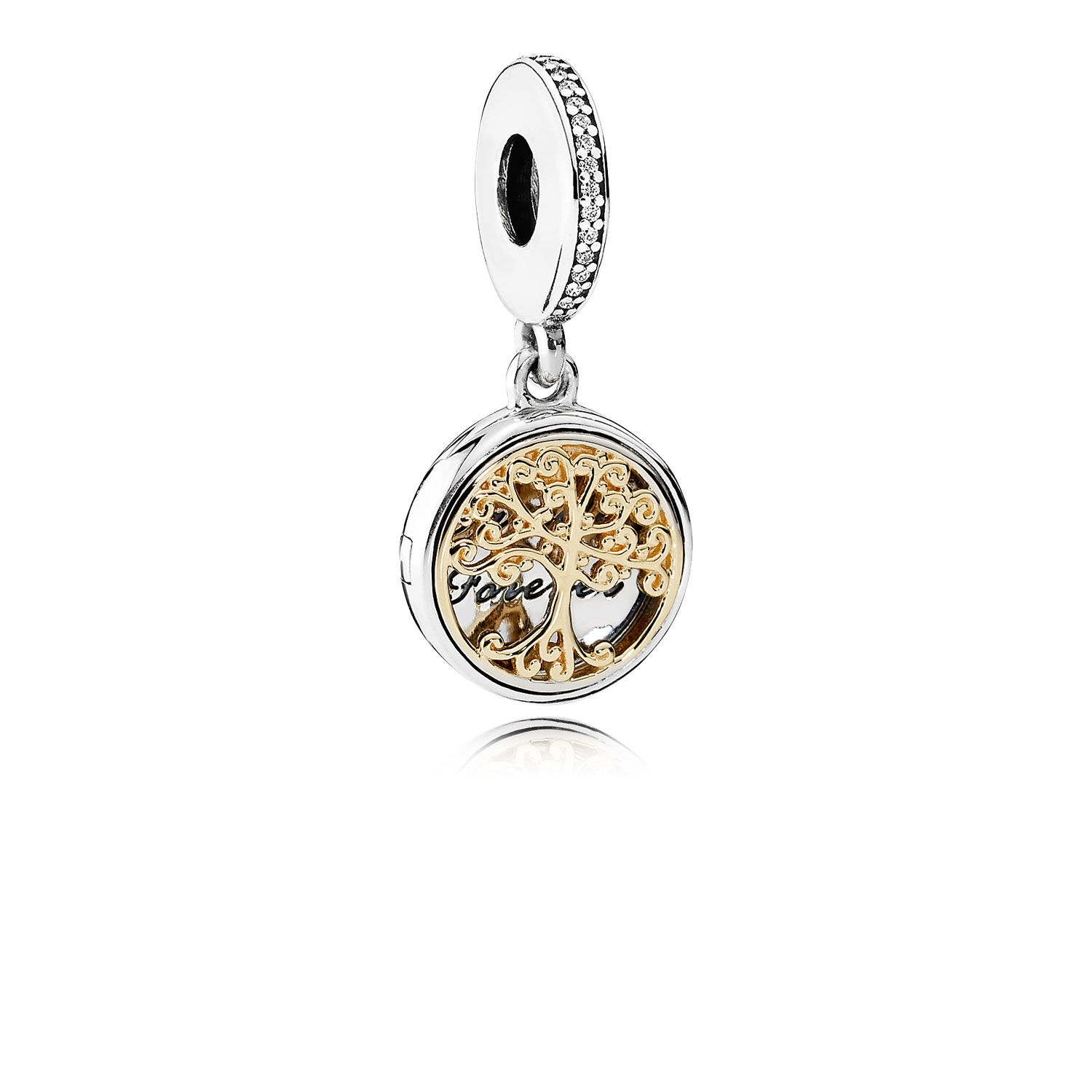 Pandora Family Roots Dangle Charm, Clear CZ 791988CZ