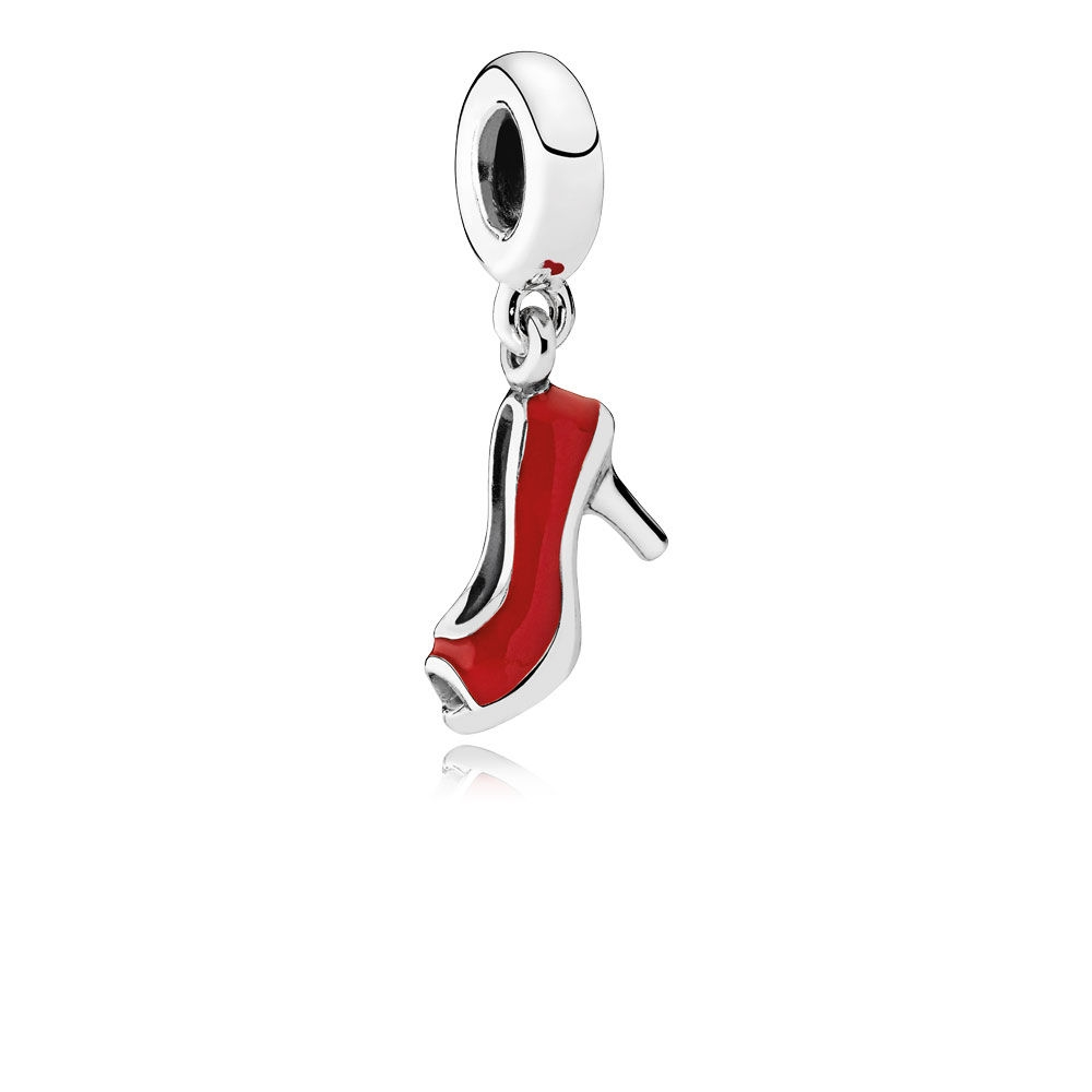 Pandora Red Stiletto Dangle Charm, Red Enamel 792154EN09